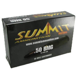 Summit Rifle Ammunition with Once-Fired Brass .50 BMG 643 gr Tracer  - 10/box