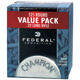 Federal Champion Rimfire Ammunition .22 LR 36 gr CPHP 1260 fps 525/ct