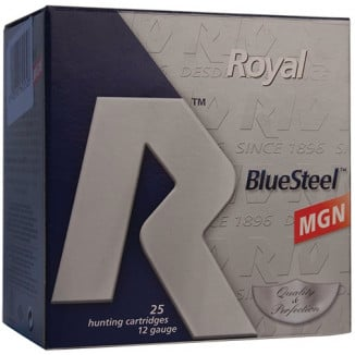 "Rio Royal BlueSteel 12 ga 3 1/2"" MAX 1 3/8 oz #BB 1550 fps - 25/box"