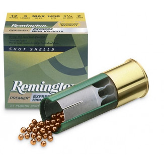 "Remington Express Extra Long Range Shotgun Ammo 12 ga 2 3/4"" 3 3/4 dr 1 1/4 oz #6 1330 fps - 25/box"
