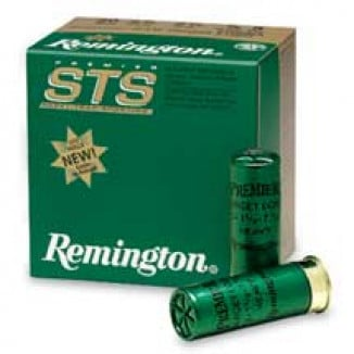 "Remington Premier STS Target 12 ga 2 3/4"" 2 3/4 dr 1 oz #8 1185 fps - 25/box"