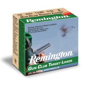 "Remington Gun Club Target Load 12 ga 2 3/4"" 2 3/4 dr 1 1/8 oz #9 1145 fps - 25/box"