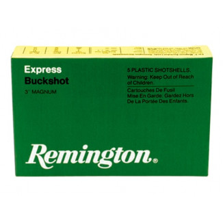 "Remington Express Magnum Buckshot Shotgun Ammo 12 ga 3 1/2"" MAX 18 plts #00 1125 fps - 5/box"