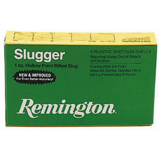 "Remington Slugger Rifled Slug 12 ga 2 3/4"" MAX 1 oz Slug 1560 fps - 5/box"