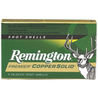 "Remington Premier Copper Solid Sabot 12 ga 2 3/4"" MAX 1 oz Slug 1450 fps - 5/box"