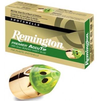 "Remington Premier AccuTip Bonded Sabot Slug 12 ga 3""  385 gr Slug 1900 fps - 5/box"