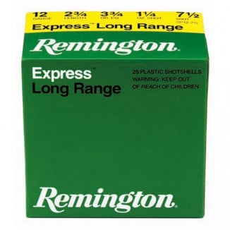 "Remington Express Extra Long Range Shotgun Ammo .410 ga 2 1/2"" MAX 1/2 oz #7.5 1250 fps - 25/box"