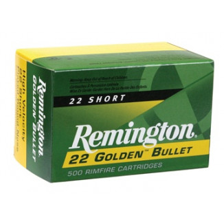 Remington Golden Bullet Rimfire Ammunition .22 Short 29 gr RN 50/box