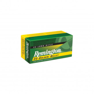 Remington Golden Bullet Rimfire Ammunition .22 LR 36 gr CPHP 50/box