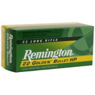Remington Golden Bullet Rimfire Ammunition .22 LR 36 gr PLHP 50/box