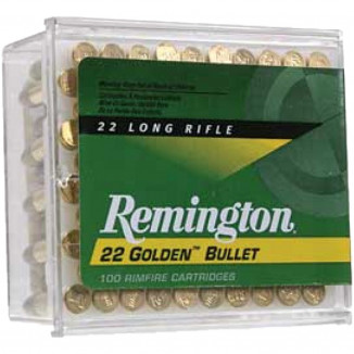 Remington Golden Bullet Rimfire Ammunition .22 LR 36 gr CPHP 100/ct