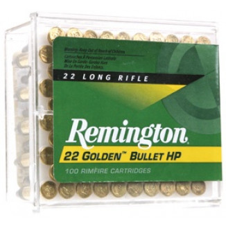 Remington Golden Bullet Rimfire Ammunition .22 LR 36 gr HP 100/box