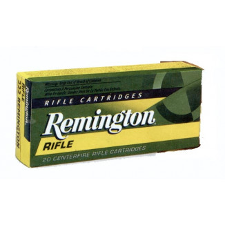 Remington Rifle Ammunition .222 Rem 50 gr PSP 3140 fps - 20/box