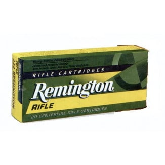 Remington Rifle Ammunition .22-250 Rem 55 gr PSP 3680 fps - 20/box