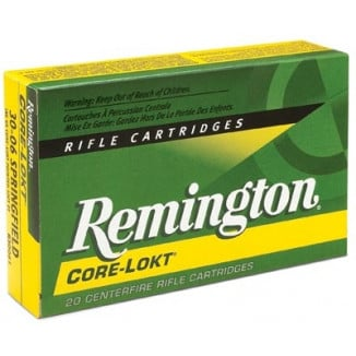 Remington Core-Lokt Rifle Ammunition .25-06 Rem 120 gr PSP 2990 fps - 20/box