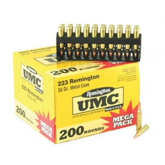 Remington UMC Rifle Ammunition .223 Rem 55 gr FMJ  - 200/box