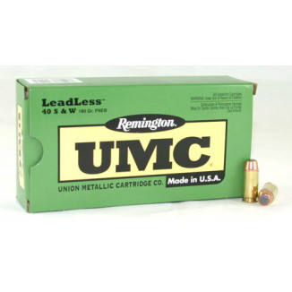 Remington UMC Handgun Ammunition .40 S&W 180 gr FNEB  50/box