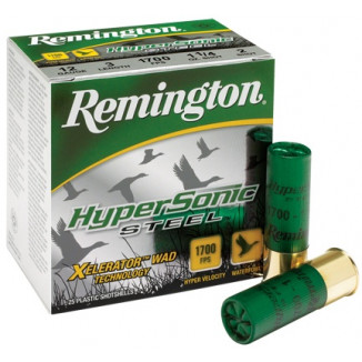 "Remington HyperSonic Steel 12 ga 3""  1 1/4 oz #4 1700 fps - 25/box"
