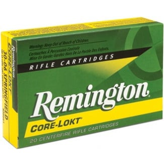 Remington Core-Lokt Rifle Ammunition .30-06 Sprg 220 gr SP 2410 fps - 20/box