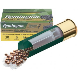 "Remington Premier High-Velocity Magnum Copper-Plated Buffered Turkey 12 ga 3 1/2"" MAX 2 oz #5 1300 fps - 10/box"