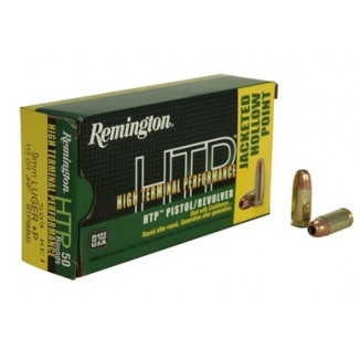 Remington HTP Handgun Ammunition 9mm Luger (+P)  115 gr JHP  50/box