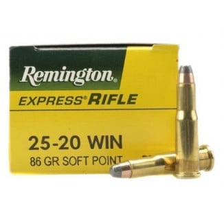 Remington Rifle Ammunition .25-20 Win 86 gr SP 1460 fps - 50/box