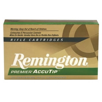 Remington Premier AccuTip Varmint Rifle Ammunition .22-250 Rem 50 gr ATV-BT - 3800 fps
