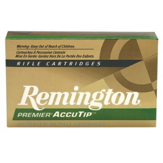 Remington Premier AccuTip Varmint Rifle Ammunition .243 Win 75 gr ATV-BT - 3375 fps