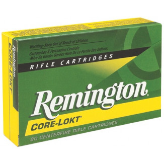 Remington Core-Lokt Rifle Ammunition .264 Win 140 gr PSP 3060 fps - 20/box