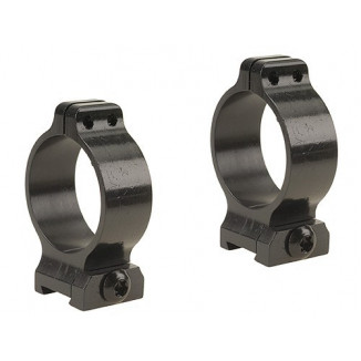 Talley Screw Lock Detachable Scope Rings - Black Satin - 30mm - Medium