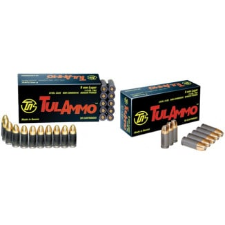 TulAmmo Handgun Ammunition 9mm Luger 115 gr FMJ 1150 fps 50/box