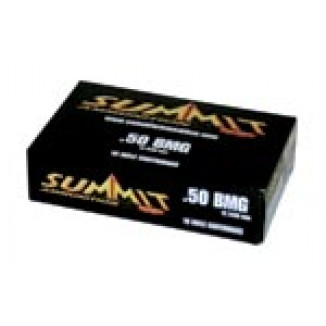 Summit Rifle Ammunition with New Brass .50 BMG 649 gr Ball  - 10/box