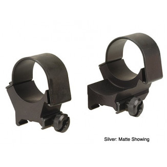 Weaver Detachable Extension Top Mount Aluminum Scope Rings - 30mm High EXT - Silver