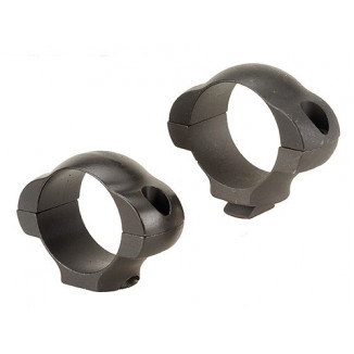 """Weaver Steel Dovetail Scope Rings with Rear Windage Adjustments - 1"""" Low - Matte"""