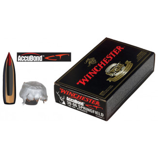 Winchester AccuBond CT Rifle Ammunition .30-06 Sprg 180 gr AB 2750 fps - 20/box