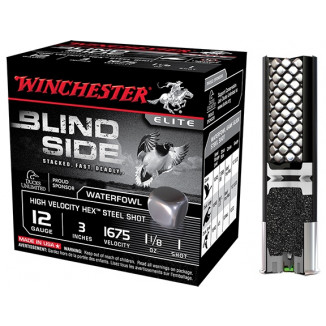 "Winchester Blind Side Hex Shot 12 ga 3""  1 1/8 oz #1 1675 fps - 25/box"