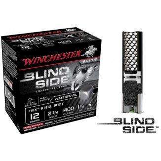 "Winchester Blind Side Hex Shot 12 ga 2-3/4"" 1-1/4 oz #5 1300 fps - 25/box"