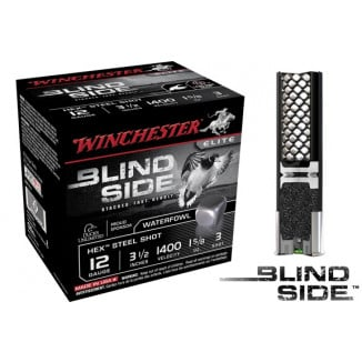 "Winchester Blind Side Hex Shot 12 ga 3 1/2""  1 5/8 oz #3 1400 fps - 25/box"