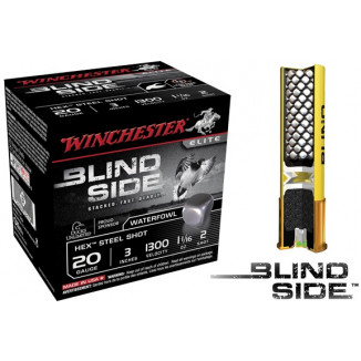"Winchester Blind Side Hex Shot 20 ga 3""  1 1/16 oz #2 1300 fps - 25/box"
