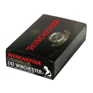 Winchester Ballistic Silvertip Rifle Ammunition .243 Win 55 gr BST 3910 fp - 20/box