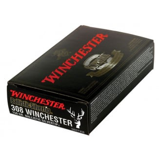Winchester Ballistic Silvertip Rifle Ammunition .308 Win 150 gr BST 2810 fps - 20/box