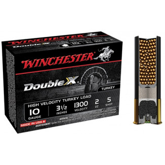 "Winchester Double X Turkey Load 10 ga 3 1/2"" MAX 2 oz #5 1300 fps - 10/box"