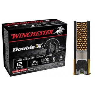 "Winchester Double X Turkey Load 12 ga 3"" MAX 2 oz #4 1300 fps - 10/box"
