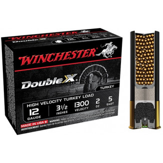 "Winchester Double X Turkey Load 12 ga 3 1/12"" MAX 2 oz #5 1300 fps - 10/box"