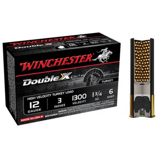 "Winchester Double X Turkey Load 12 ga 3"" MAX 1 3/4 oz #6 1300 fps - 10/box"