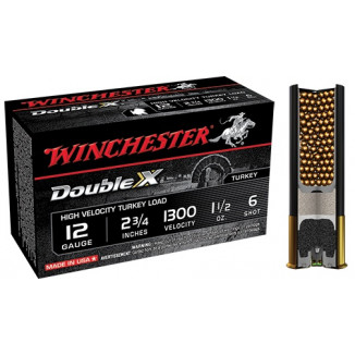 "Winchester Double X Turkey Load 12 ga 2 3/4"" MAX 1 1/2 oz #6  - 10/box"
