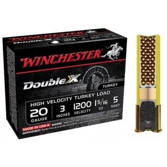 "Winchester Double X Turkey Load 20 ga 3"" MAX 1 5/16 oz #5 1200 fps - 10/box"