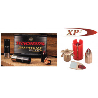 "Winchester Supreme Elite XP3 Sabot Slug 12 ga 2 3/4""  300 gr Slug 1900 fps - 5/box"