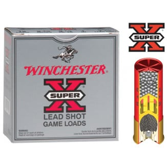 "Winchester Super-X High-Brass 16 ga 2 3/4"" 3 1/4 dr 1 1/8 oz #4 1295 fps - 25/box"