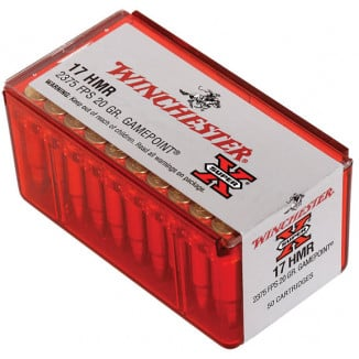 Winchester Super-X Rimfire Ammunition .17 HMR 20 gr GP 2375 fps 50/box